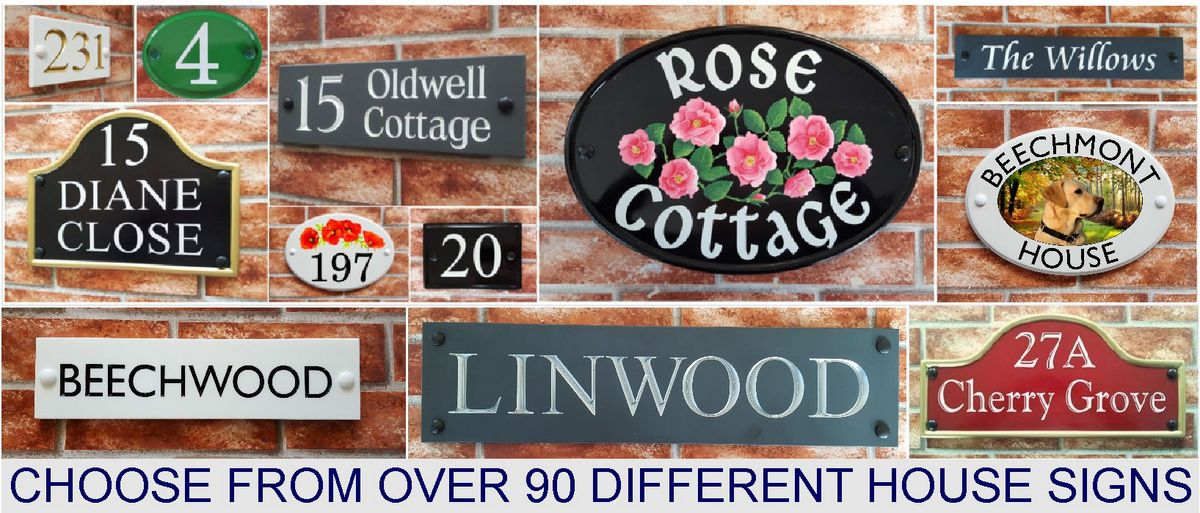 House Name & Number Plaques by House Sign Shop