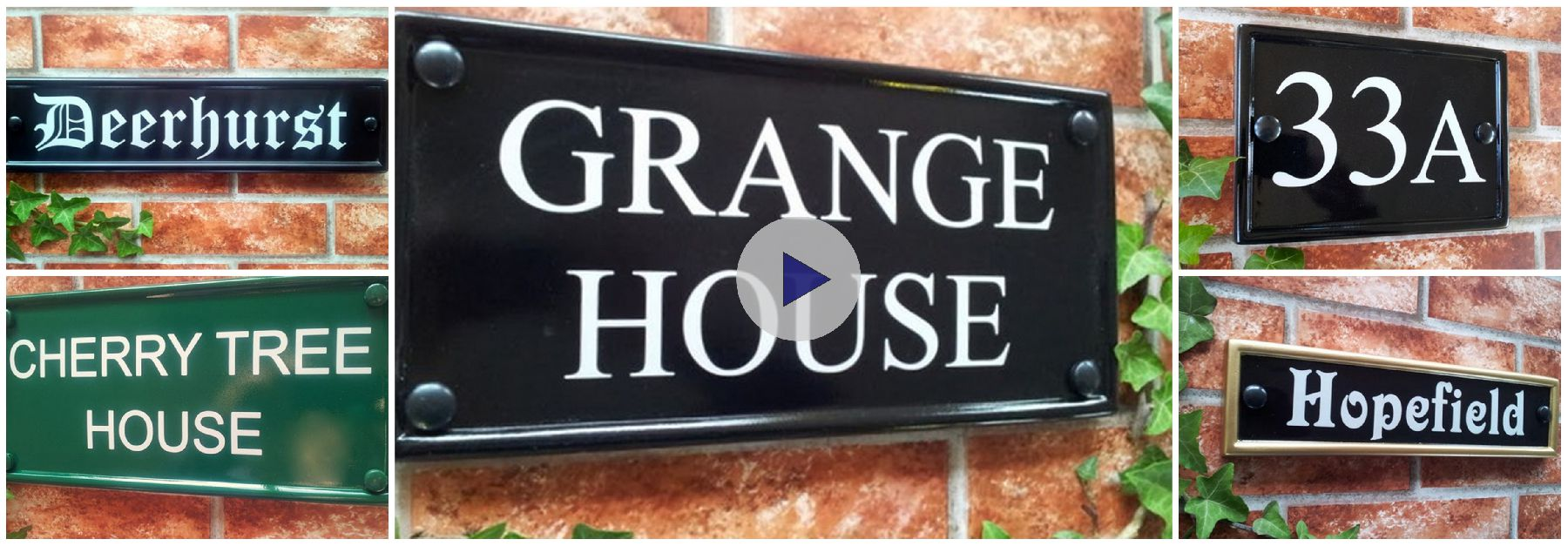 Rectangular Home Signs House Sign Shop