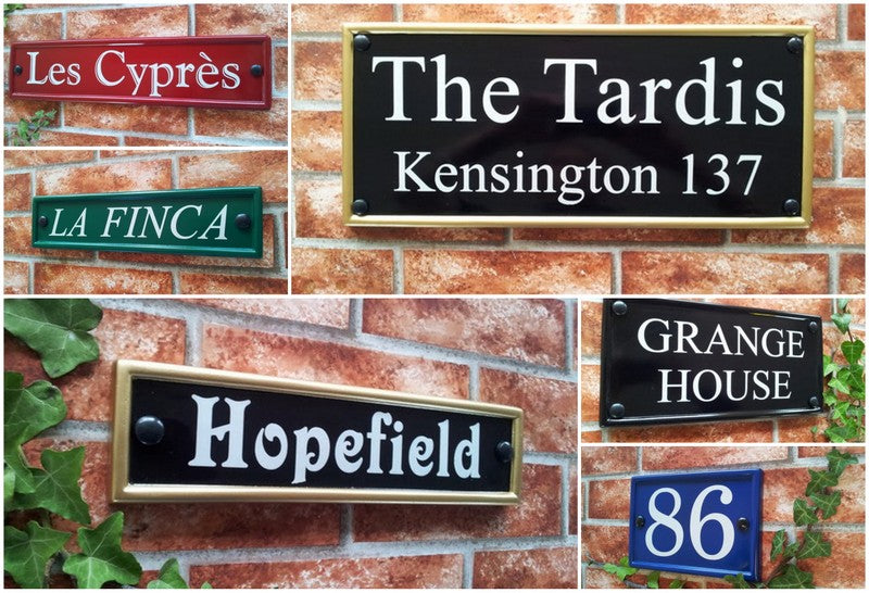 classic rectangle house name and address signs