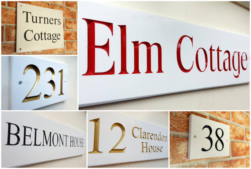 House signs & Plaques in white corian