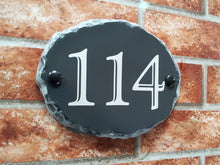 Small Rustic Oval Number Sign - 180mm x 140mm - House Sign Shop
