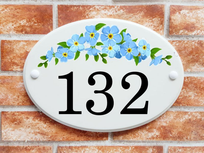 Forget-me-nots - House Sign Shop