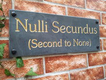 Slate house name sign / address plaque  400mm x 150mm - House Sign Shop