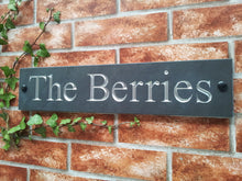 Slate house name sign / address sign - 450mm x 100mm - House Sign Shop