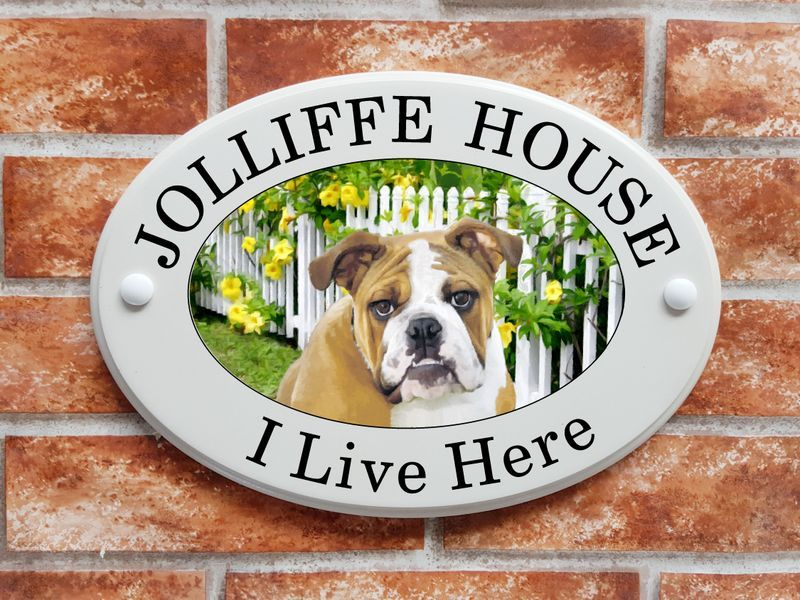 Bulldog house sign - House Sign Shop