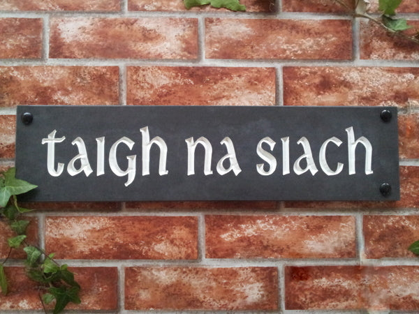 Solid slate house sign  500mm x 125mm - House Sign Shop