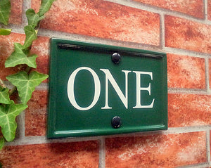 Classic rectangle house number sign   180mm x 124mm; 7.1 inches x 4.9 inches - House Sign Shop