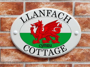 Welsh dragon house sign - House Sign Shop