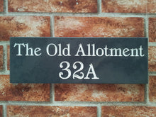 Slate home address sign  300mm x 100mm - House Sign Shop