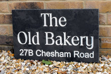 Large slate house sign  500mm x 300mm - House Sign Shop