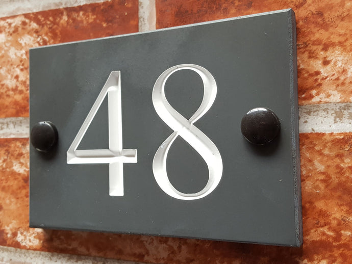 Our cheapest economy house number sign - House Sign Shop