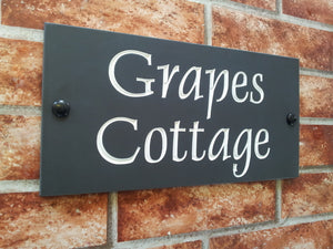 Engraved slate house sign  300mm x 150mm - House Sign Shop