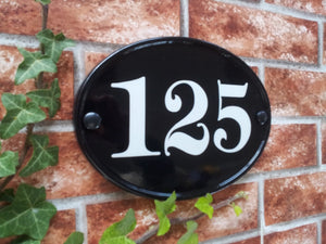 Medium Classic Oval Number Sign - 230mm x 165mm - House Sign Shop