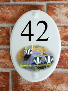 Badgers house number sign - House Sign Shop