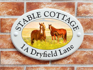 Horses home address plate