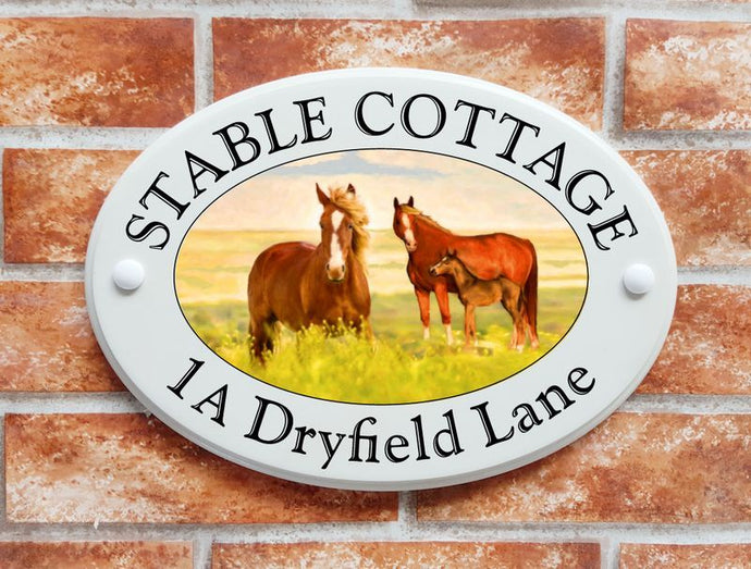 Horses house plaque - House Sign Shop