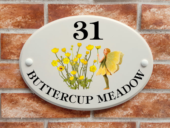 buttercup fairy house plaque