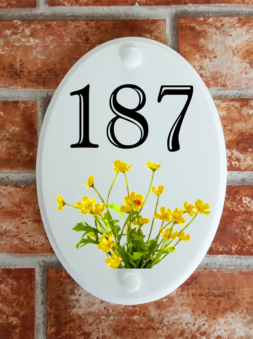 Buttercups house number plate - House Sign Shop