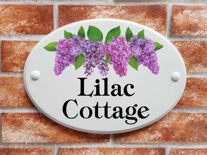 Lilac Cottage house name sign - House Sign Shop