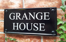Small multi line classic rectangle house name sign 298mm x 140mm - House Sign Shop