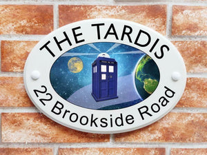 Tardis house sign - House Sign Shop