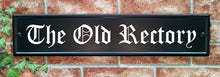 Large classic rectangle house name sign 540 x 127mm - House Sign Shop