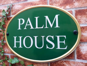 House Sign - New World Classic Oval - 368mm x 254mm - House Sign Shop