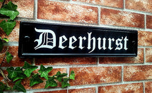 Medium classic rectangle house name sign 420mm x 100mm - House Sign Shop