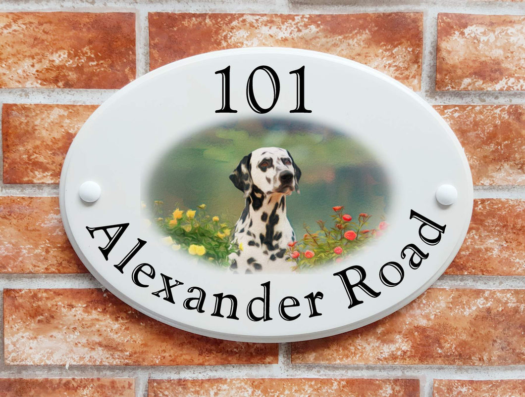 Dalmatian dog house plaque - House Sign Shop