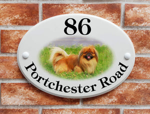 Pekingese dog breed plaque - House Sign Shop