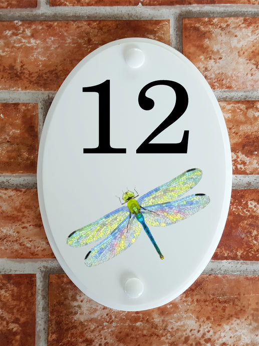 Dragonfly house number plate - House Sign Shop
