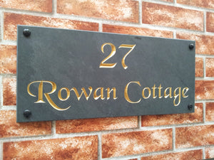 House name sign / address plaque  450mm x 200mm - House Sign Shop