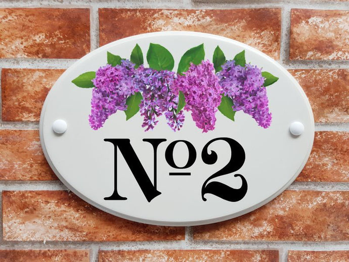 Lilac flowers with foliage - House Sign Shop