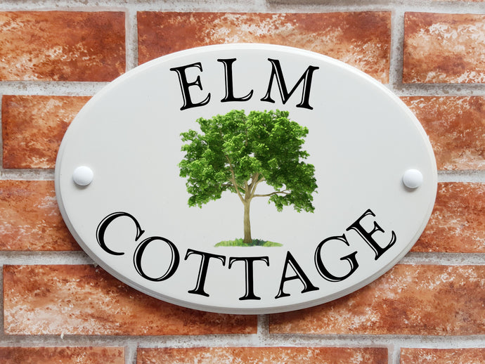 Elm Tree cottage sign