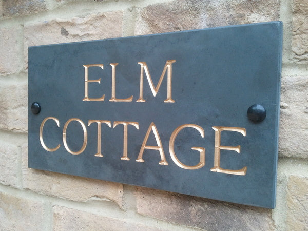 61c88784e0b ... Engraved slate house sign 300mm x 150mm - House Sign Shop ...