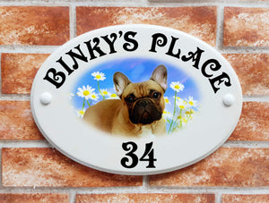 French Bulldog house plaque - House Sign Shop