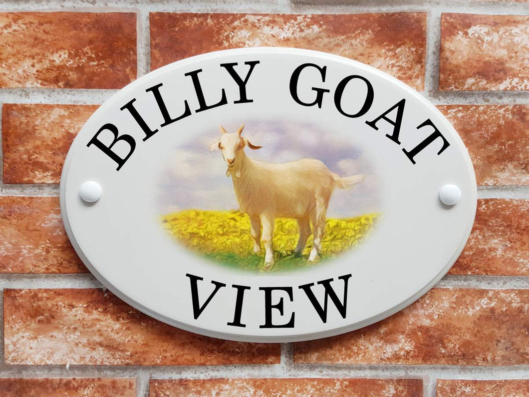 Billy goat house plaque - House Sign Shop