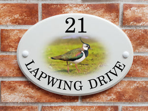 Lapwing bird house name & address sign - House Sign Shop