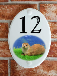 British river otter house number plate - House Sign Shop