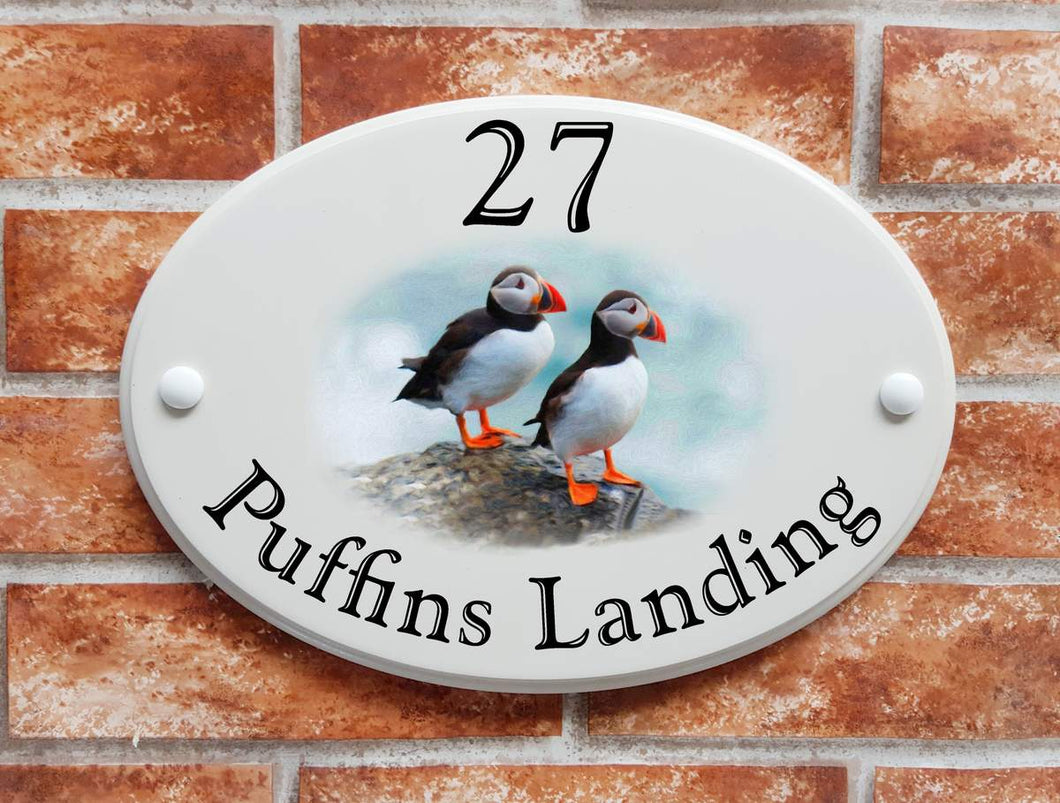 Puffins House Sign - House Sign Shop