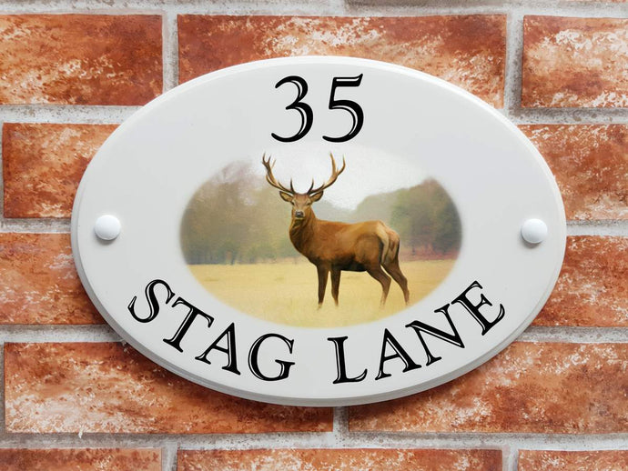 red deer stag house sign - House Sign Shop