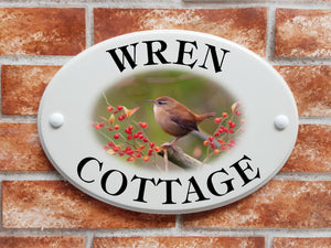 Wren Cottage house name sign - House Sign Shop