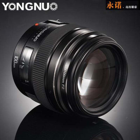 NEW Yongnuo YN100mm F2 Medium Telephoto Prime Lens for Canon EOS Rebel