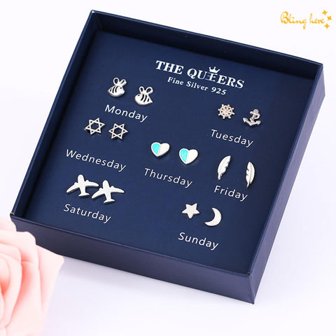 Weekly Earrings Gift Box - 7 pcs