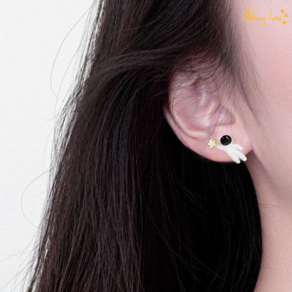 Astronaut Star Ear Studs