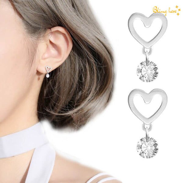 Heart Shaped Ear Studs