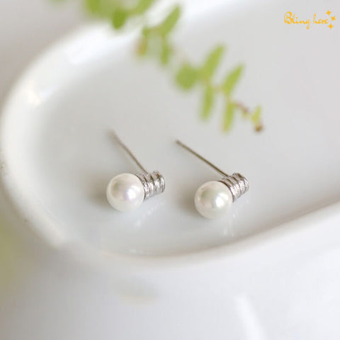 Bulb Shaped Ear Studs