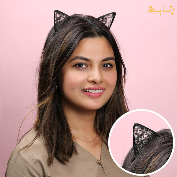 Cat Ears Knitted Head Band