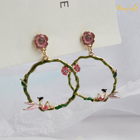 Fairy Tale Hoops Earrings