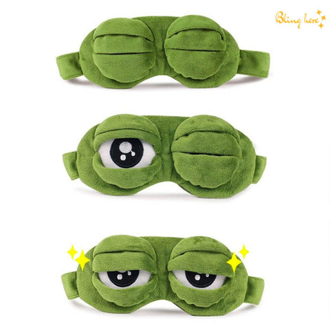 3D Plush Frog Eye Mask